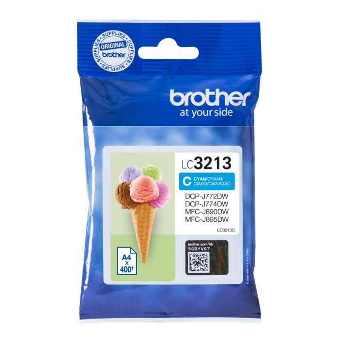 Brother LC-3213C, LC3213 Tintenpatrone cyan