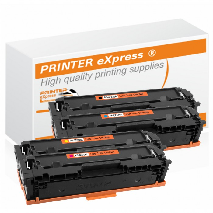 Toner 4er Set alternativ zu HP CF530A, CF531A, CF532A,...
