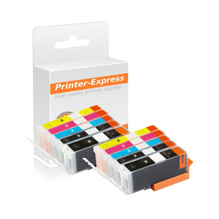 Druckerpatronen 10er Set ersetzt Canon PGI-580, CLI-581 XXL