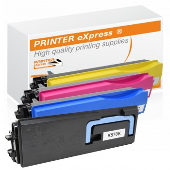Toner 4er Set alternativ für Kyocera TK-570, TK570 Drucker
