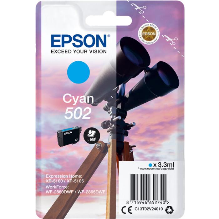 Epson 502, C13T02V24010 Druckerpatrone cyan