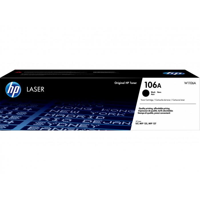 HP Toner HP W1106A, 106A schwarz