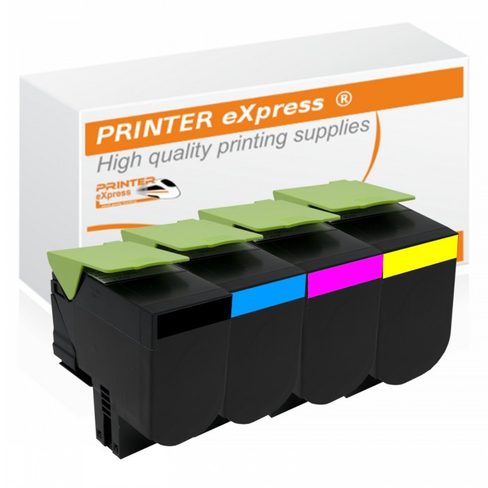 4er Set alternativ Lexmark Toner CX417, CS417