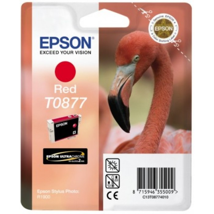 Epson T0877 Druckerpatrone rot Ultra Gloss High-Gloss 2