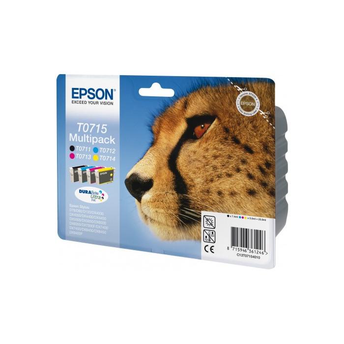 Epson T0715 Multipack BK/C/M/Y  Tinte