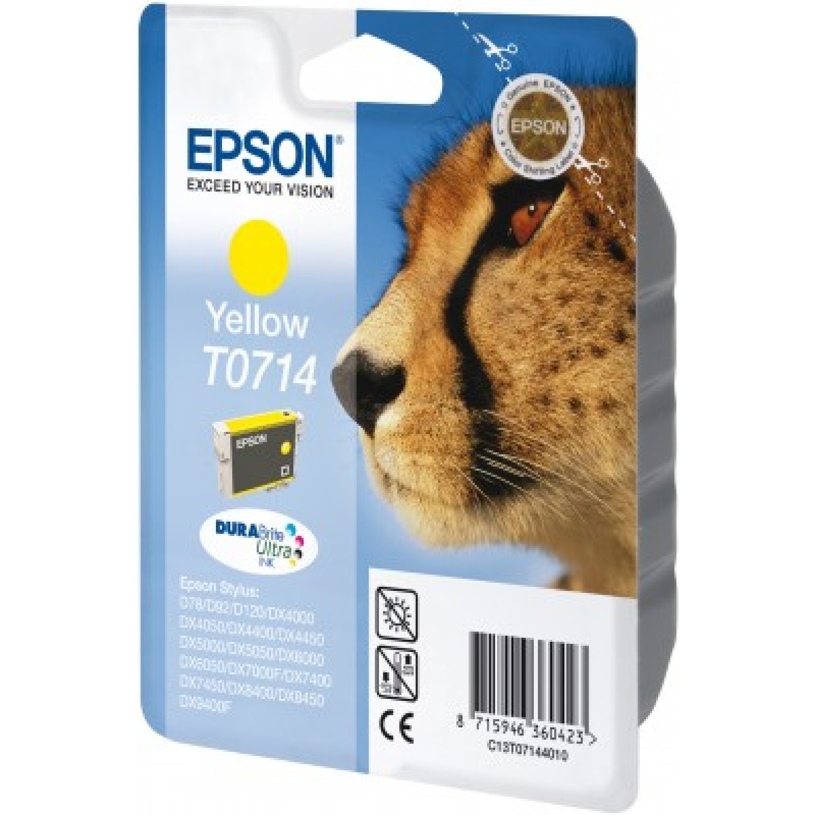 Epson T0714 Druckerpatrone yellow