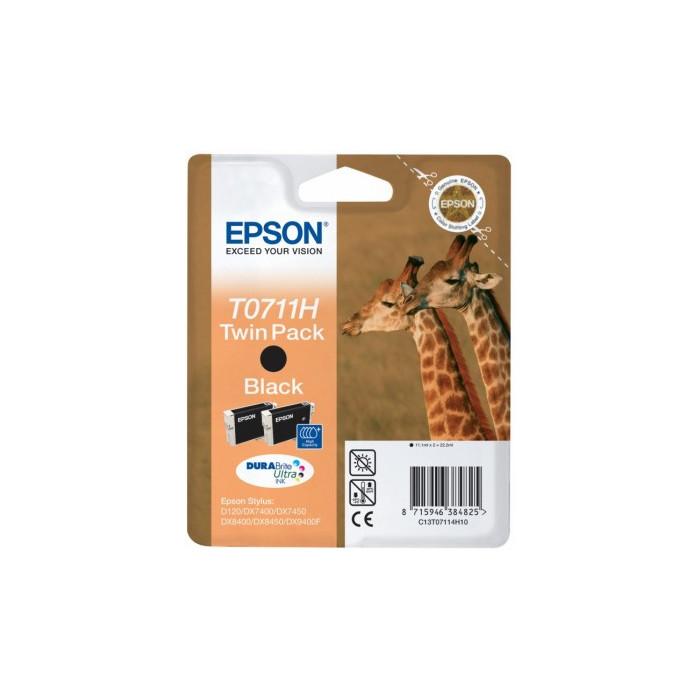 Epson T0711H Druckerpatrone black 22.2 ml