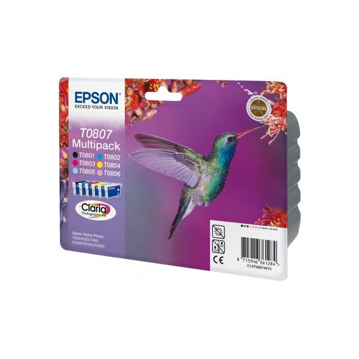Epson T0807 Multipack 6er Set alle Farben
