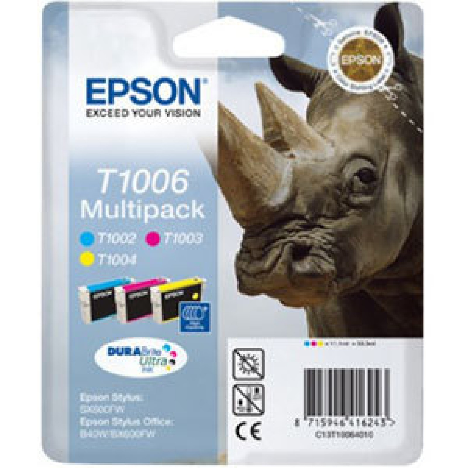 Epson T1006 Multipack 3-farbig DURABrite Ultra Ink