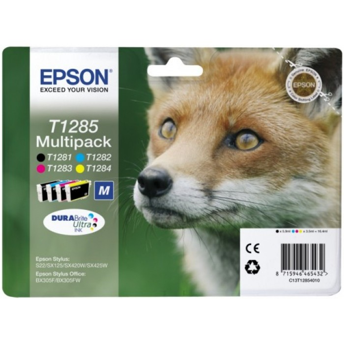 Epson T1285 Multipack 4er Set DURABrite Ultra Tinte