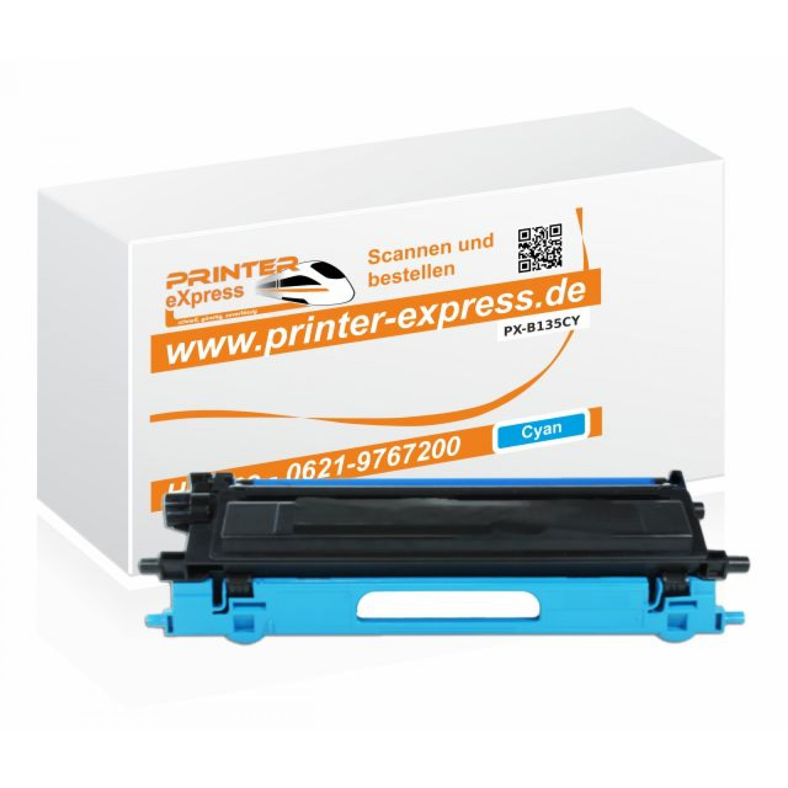 Toner alternativ zu Brother TN-135C für Brother Drucker Cyan