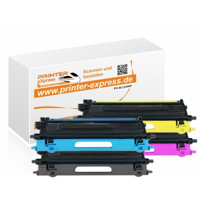 4er Set Toner alternativ zu Brother TN-135