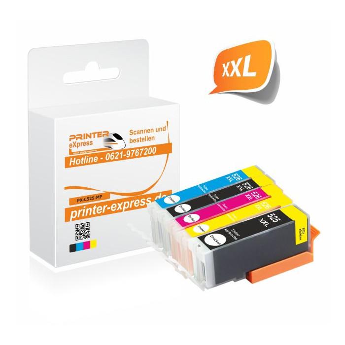 Multipack 5 Druckerpatronen alternativ zu PGI-525 und...