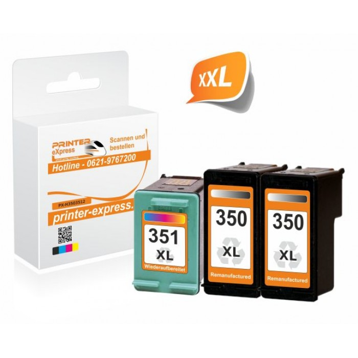 HP 350 + 351 Multipack 2x Schwarz + 1x Color (HP 350 XL,...