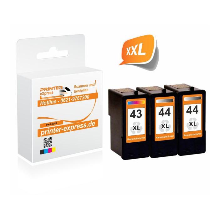 Lexmark 43 + 44 Multipack 2x Schwarz + 1x Color Lexmark...