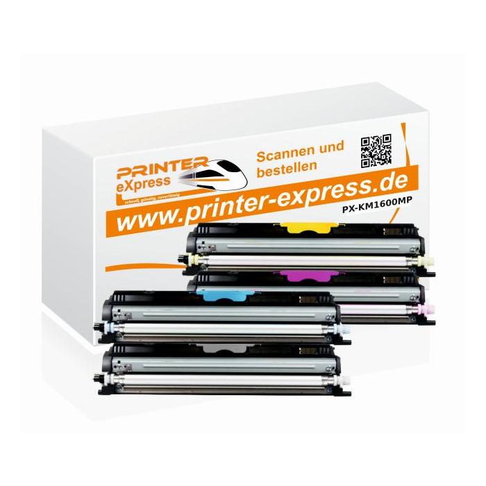 Toner Multipack alternativ zu Konica Minolta 1600W 4...