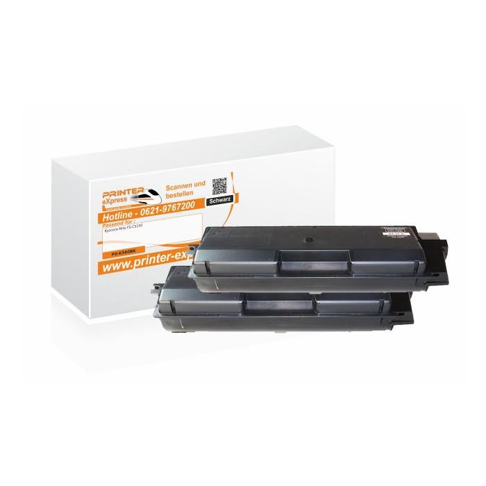 Toner 2er Set alternativ zu Kyocera TK-580BK für Kyocera...