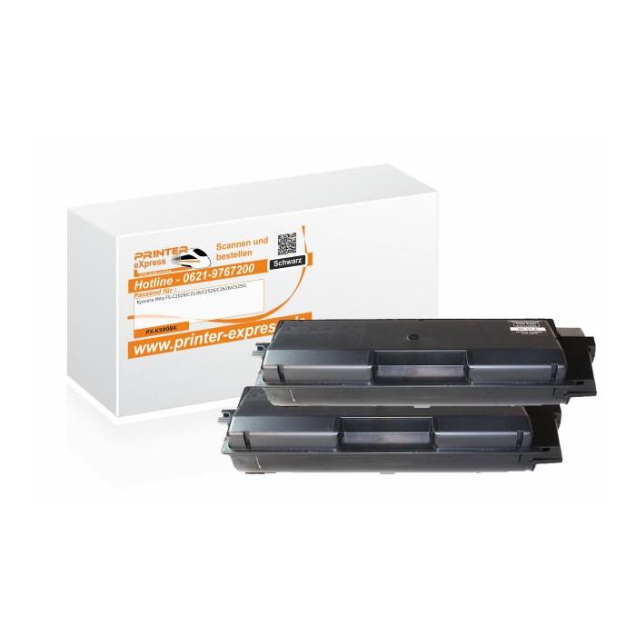 Toner 2er Set alternativ zu Kyocera TK-590BK für Kyocera...