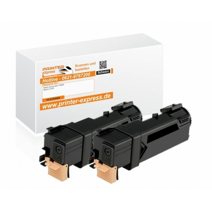 Toner 2er Set alternativ zu Epson C13S050630, 0630 für...
