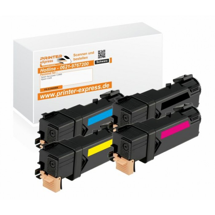 Toner 4er Set alternativ zu Epson C2900, CX29