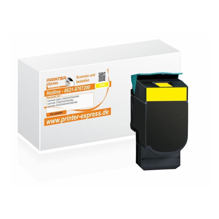 Toner alternativ zu Lexmark C540H2YG, C540A1YG, C540H1YG...