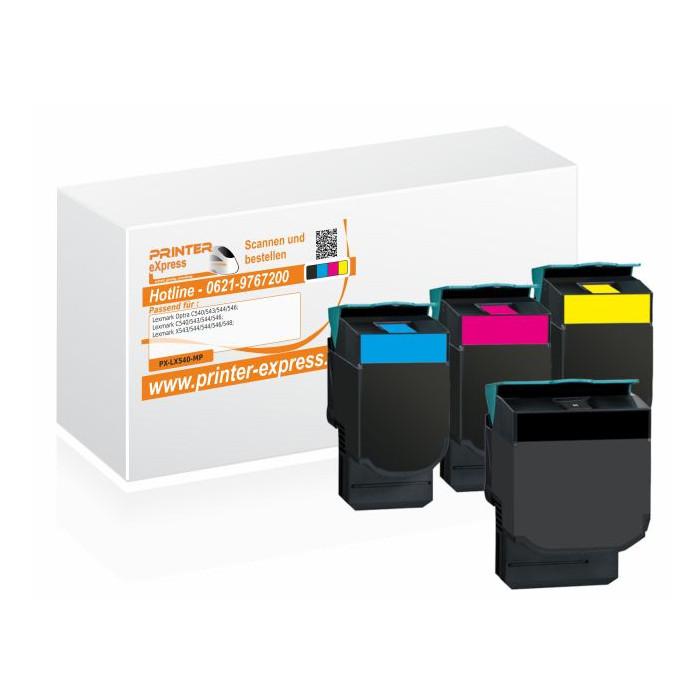 Toner 4er Set alternativ zu Lexmark C540H2KG, C540H2CG,...