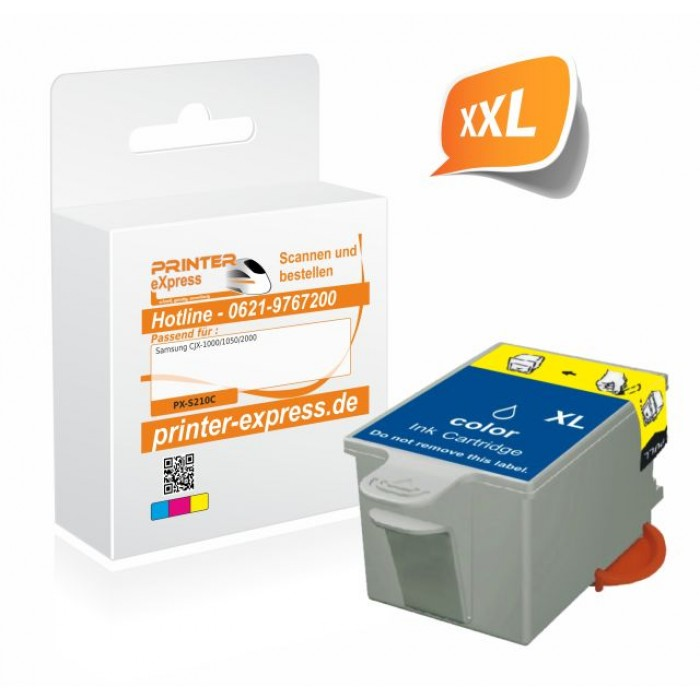 Printer-Express Druckerpatrone ersetzt Samsung INK-C210...