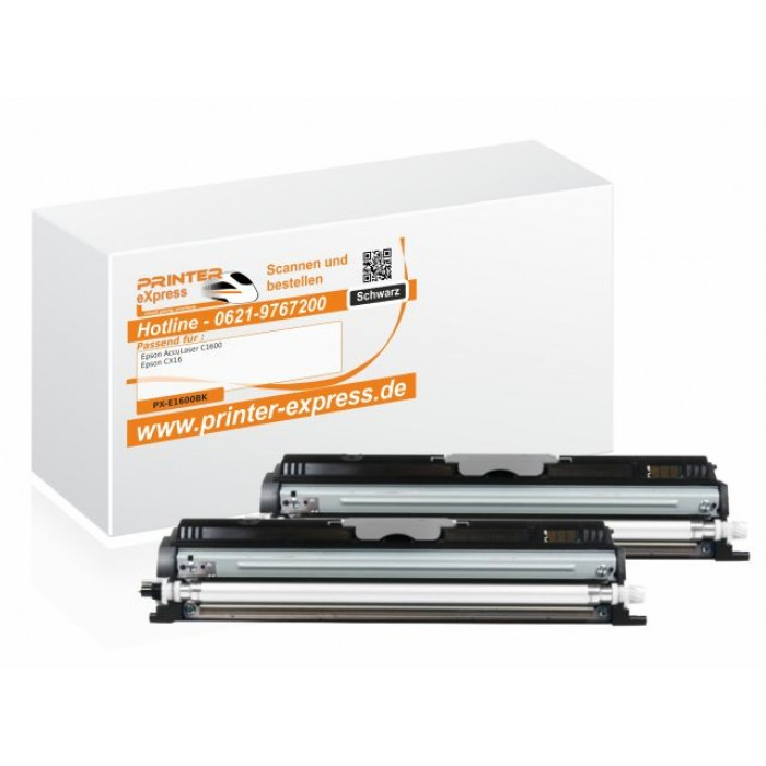 Toner 2er Set ersetzt Epson C13S050557, 0557 für Epson...