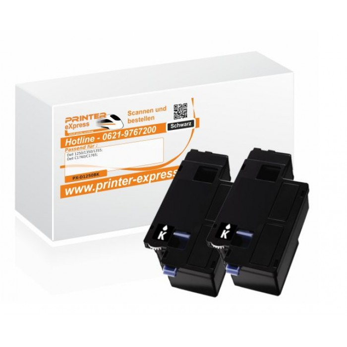 Toner 2er Set alternativ zu Dell 593-11140, DC9NW XL für...