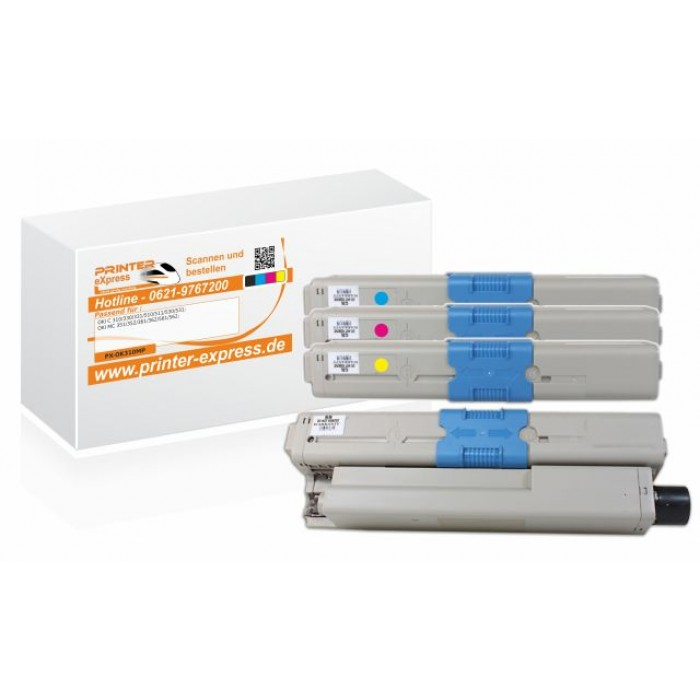 Toner 4er Set alternativ zu Oki C310 XXL
