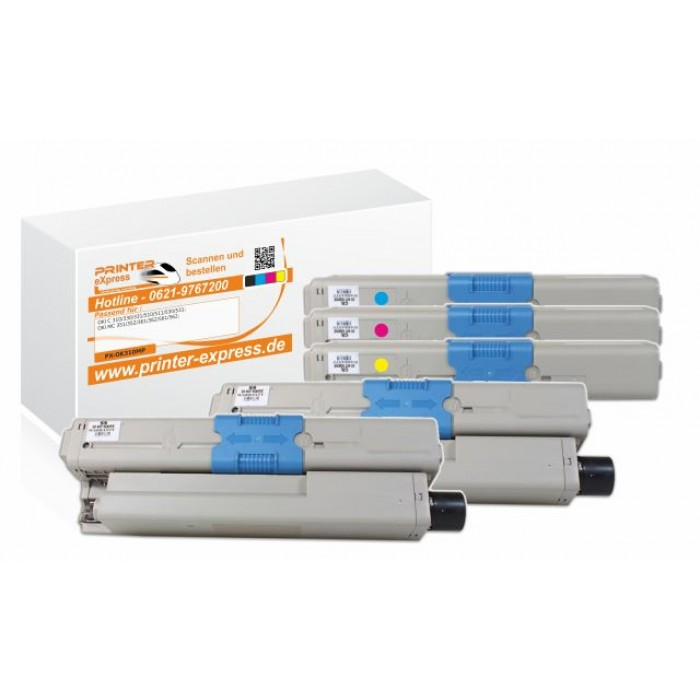 Toner 5er Set alternativ zu Oki C310 XXL