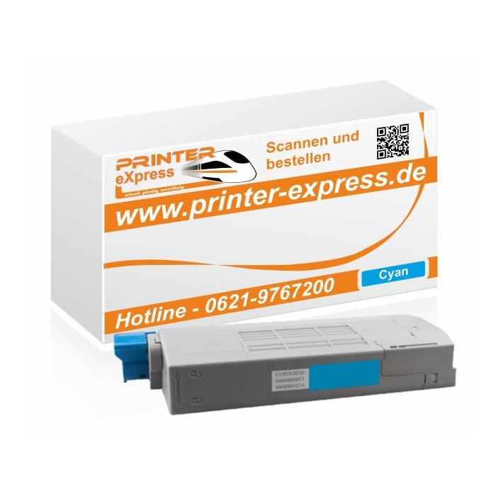 Toner ersetzt Oki 43866107, C710 XL für Oki Drucker cyan