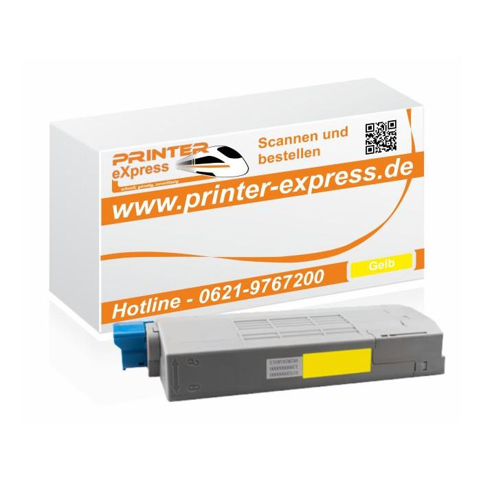 Toner ersetzt Oki 43866105, C710 XL für Oki Drucker gelb