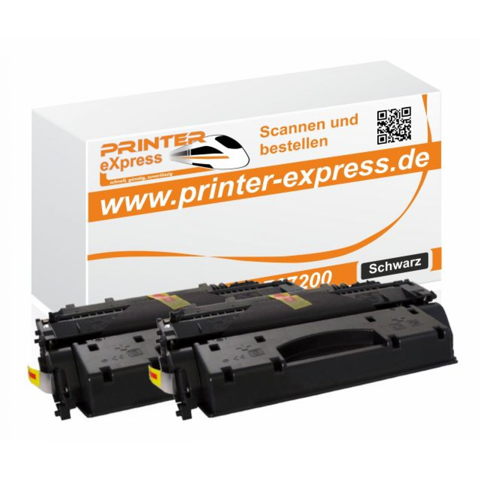 Toner 2er Set alternativ zu HP CF280X, 80X für HP...