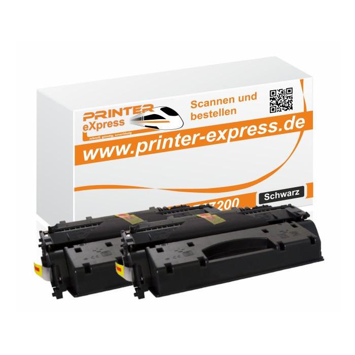 Toner 2er Set alternativ zu HP CF280X, 80X für HP Drucker...