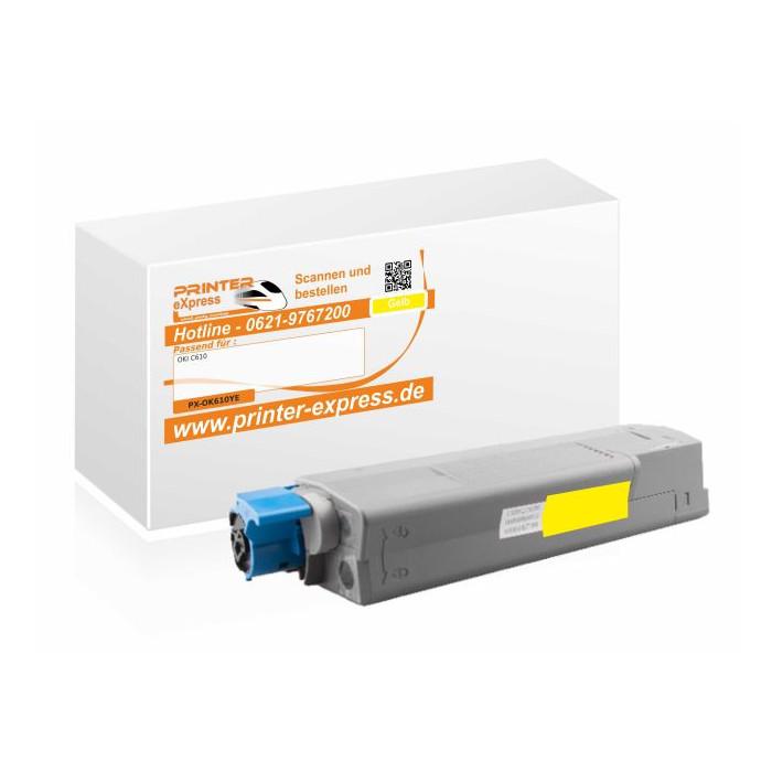 Toner ersetzt Oki 44315305, C610 XL für Oki Drucker gelb