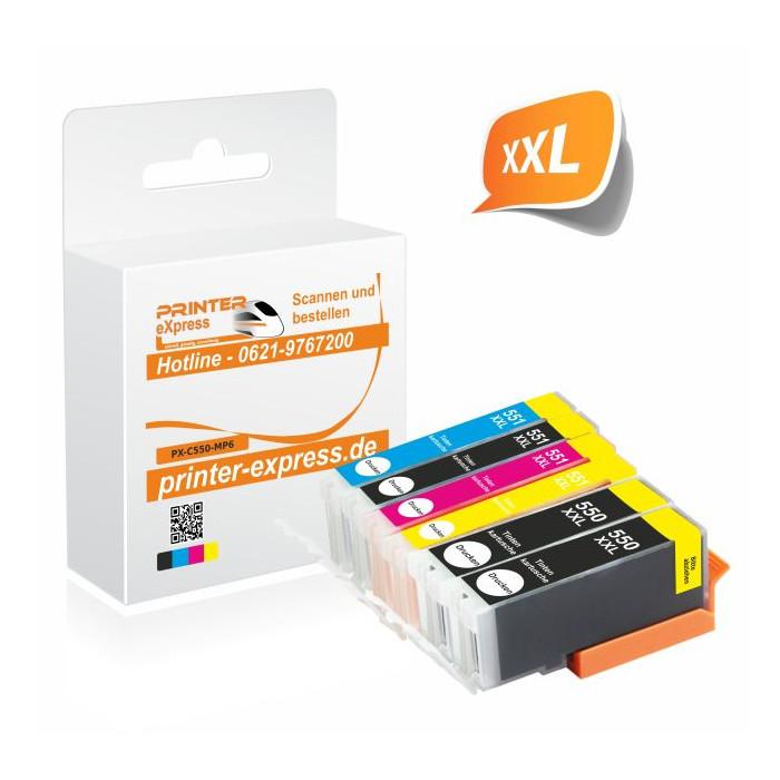 Printer-Express 6er Set Druckerpatronen ersetzten...
