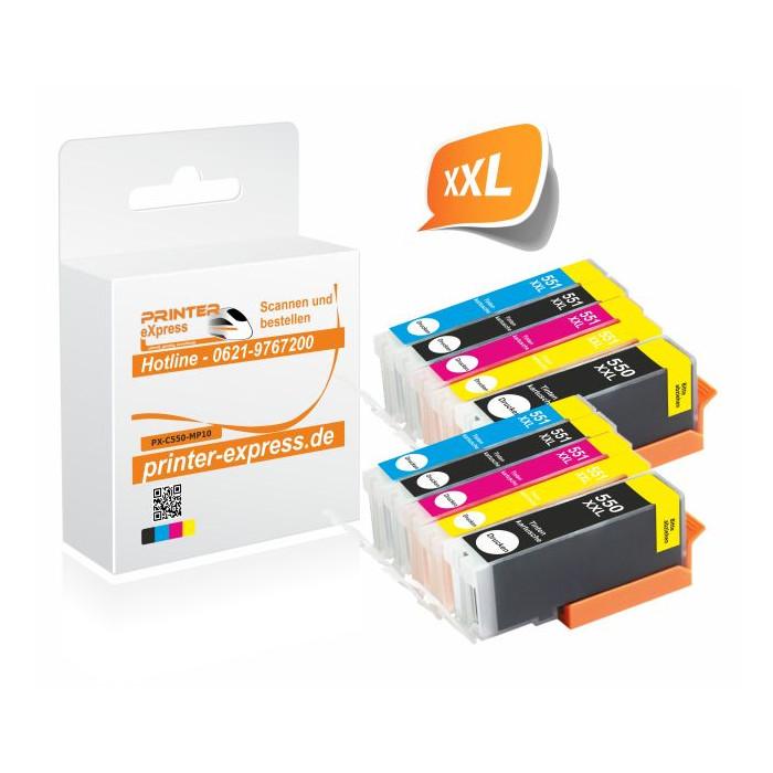 Printer-Express 10er Set Druckerpatronen ersetzten...
