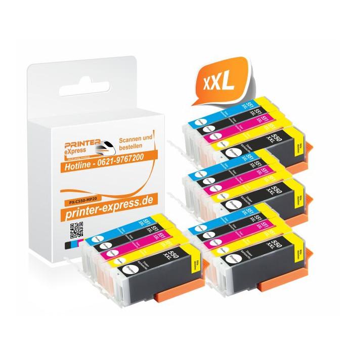 Printer-Express 20er Set Druckerpatronen ersetzten...