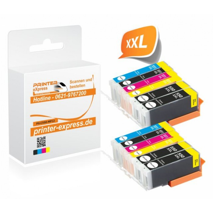 Printer-Express 12er Set Druckerpatronen ersetzten...