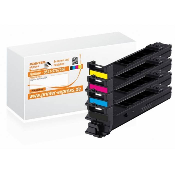 Toner 4er Set alternativ zu Konica Minolta 4650 für...