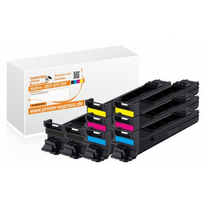 Toner 8er Set alternativ zu Konica Minolta 4650 für...