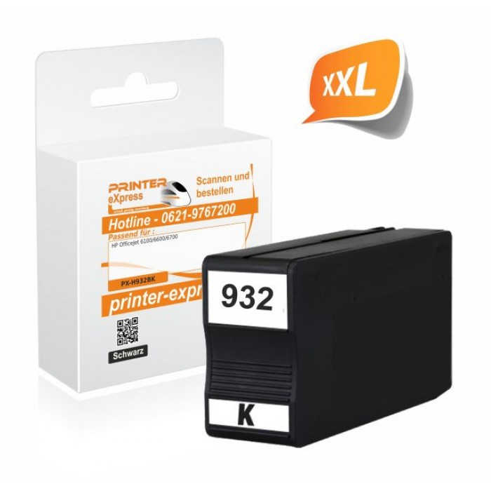 Printer-Express Druckerpatrone ersetzt HP 932, HP932XL...
