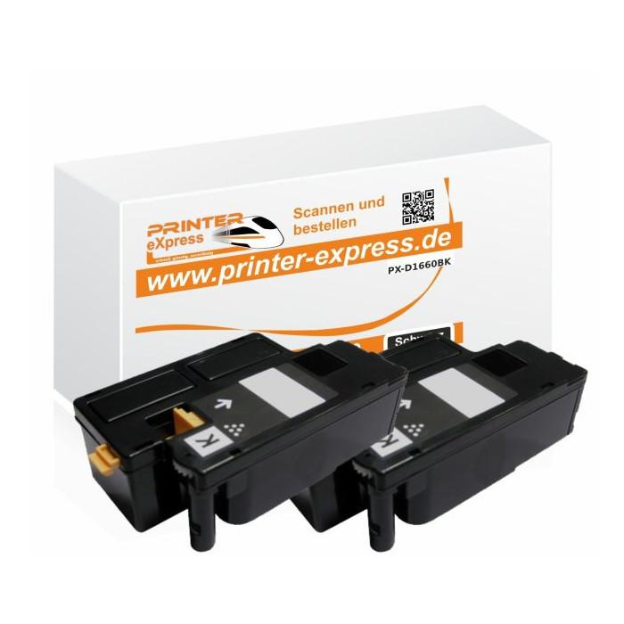 Toner 2er Set ersetzt Dell 593-11130, 7C6F7  XL für Dell...