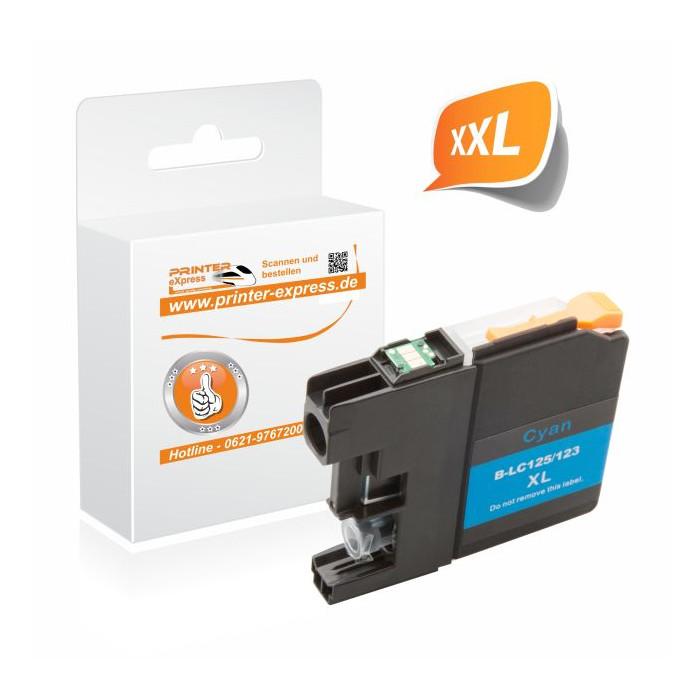 Printer-Express Druckerpatrone ersetzt Brother LC-125XLC...
