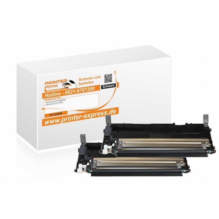 Toner 2er Set alternativ zu Samsung CLP-360, CLP360,...