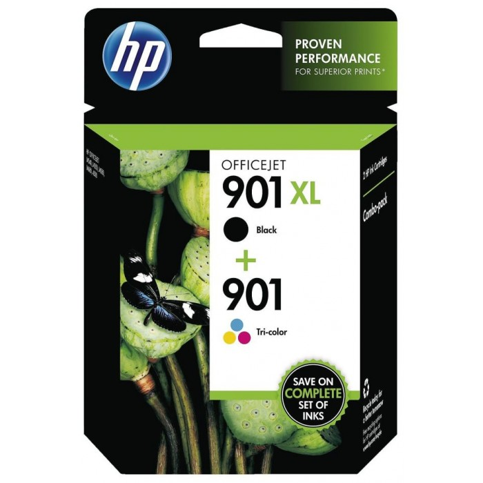 HP 901 XL 2er Pack SD519AE black und color