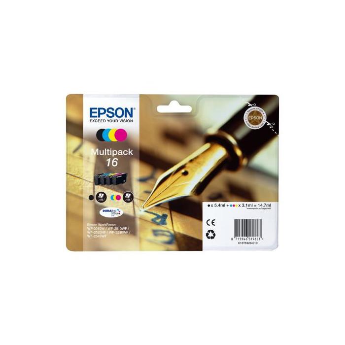 Epson T1626, 16 4er Set DURABrite Druckerpatronen