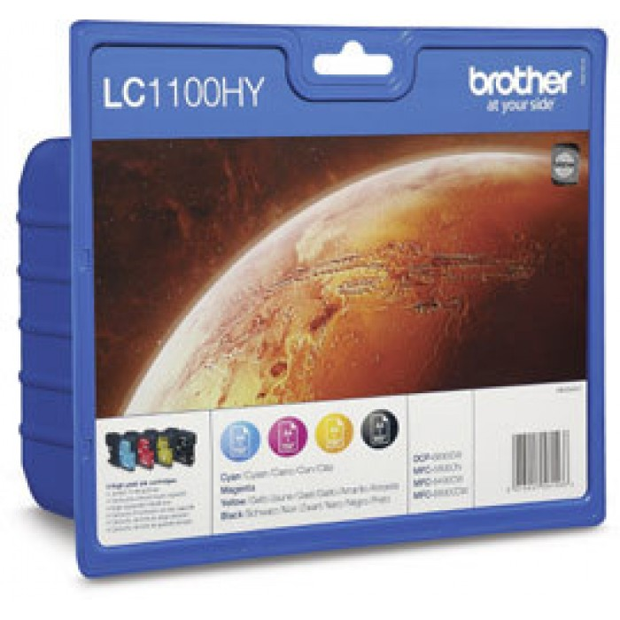 Brother Value Pack LC1100HY, LC-1100HY Multi Pack, 4 Tintenpatronen