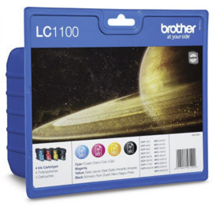 Brother Value Pack LC1100,  LC-1100 Multi Pack, 4 Tintenpatronen